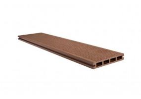 Террасная доска 146x23 Какао, брашинг / структура дерева