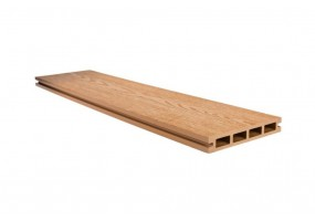 Террасная доска 146х23 Карамель, брашинг / структура дерева (Китай)