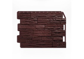 Панель фасадная Wandstein Скол темно-коричневый