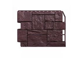 Панель фасадная Wandstein ТУФ Темно-коричневый