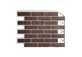 Панель фасадная Wandstein Кирпич Темно-коричневый
