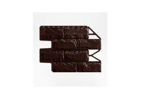 Панель фасадная Wanstein Доломит Темно-коричневый Бесшовный