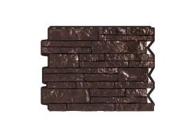 Панель фасадная Wandstein ПАРФИР Темно-коричневый