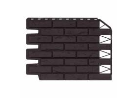 Панель фасадная Wandstein Кирпич Темно-коричневый Бесшовный