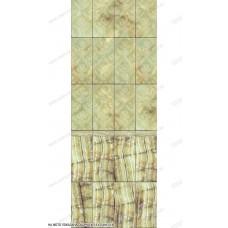 Глянцевая панель «ВЕК», Барокко зеленый