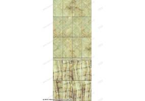 Глянцевая панель ПВХ «ВЕК», Барокко зеленый