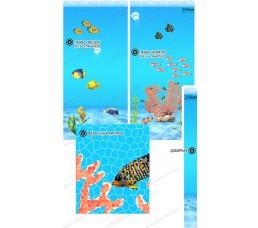 Глянцевая панель «ВЕК», Коралл (мозайка)