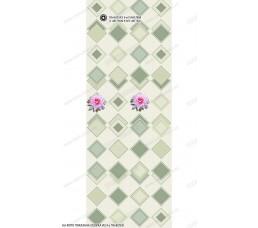 Глянцевая панель «ВЕК», Лотос зеленый (панно)