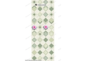 Глянцевая панель ПВХ «ВЕК», Лотос зеленый (панно)