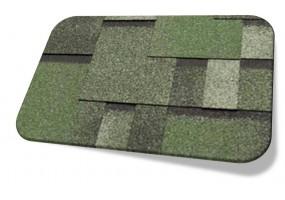 Полимерная гибкая черепица TEGOLA Модель Альпин Зеленый с отливом
