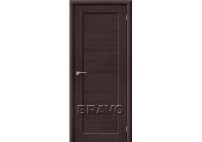 Дверь межкомнатная из эко шпона «Аква-1» Wenge Veralinga глухая