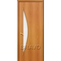 """Ламинированная межкомнатная дверь """"5С"""" Миланский орех остекление белое матовое"""