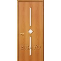 """Ламинированная межкомнатная дверь """"9С"""" Миланский орех остекление белое матовое"""