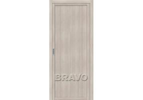 """Дверь межкомнатная из эко шпона """"Твигги M1"""" Cappuccino Veralinga глухая"""