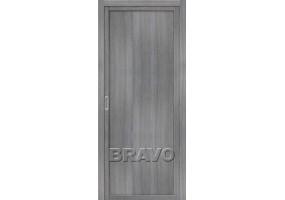 """Дверь межкомнатная из эко шпона """"Твигги M1"""" Grey Veralinga глухая"""