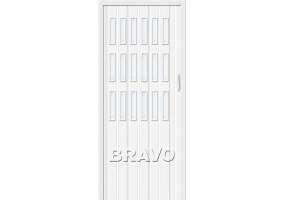 "Дверь межкомнатная из ПВХ складная ""Браво-018"" Белый глянец"