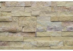 Фасадный облицовочный натуральный камень Yellow Stone quartzite 40N